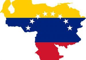 Mapa y bandera venezolanos